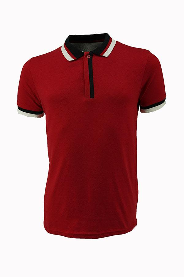 Casual Polo Red/Black/White